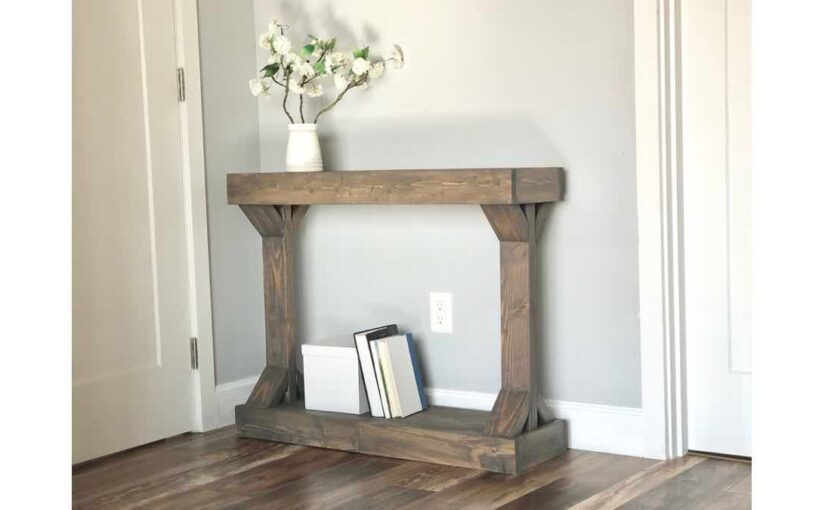 diy modern console table free woodworking plans