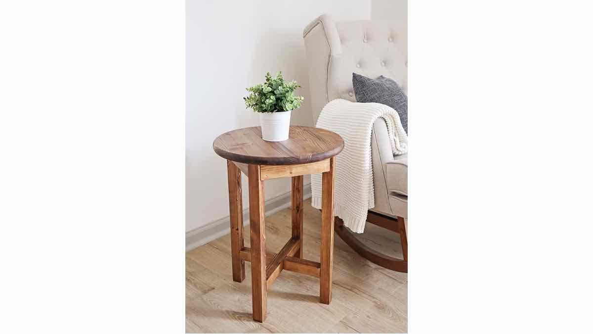 small round end tables, how to build, DIY plans