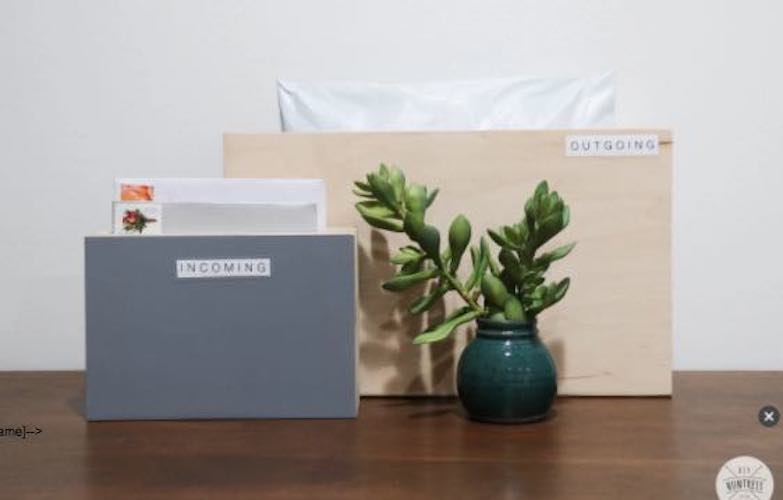 Free plans to build this Mail Organizer.