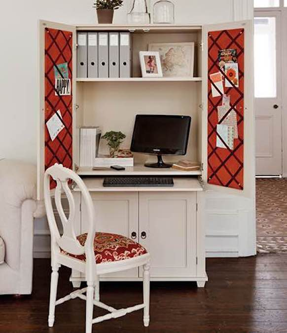 Build a Home Office Cabinet using free plans.