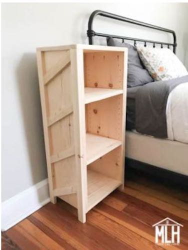 Build a Simple Mini Bookcase with free plans.