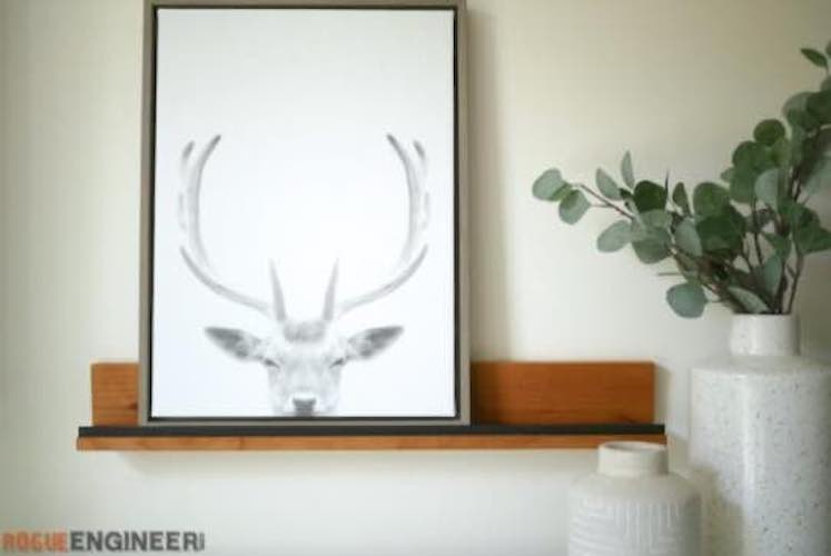Build a Floating Display Shelf using free plans.