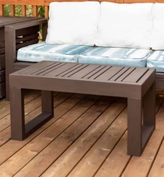 Build an Outdoor Coffee Table using free plans.