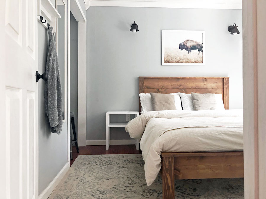 Free plans to build a simple panel bed.
