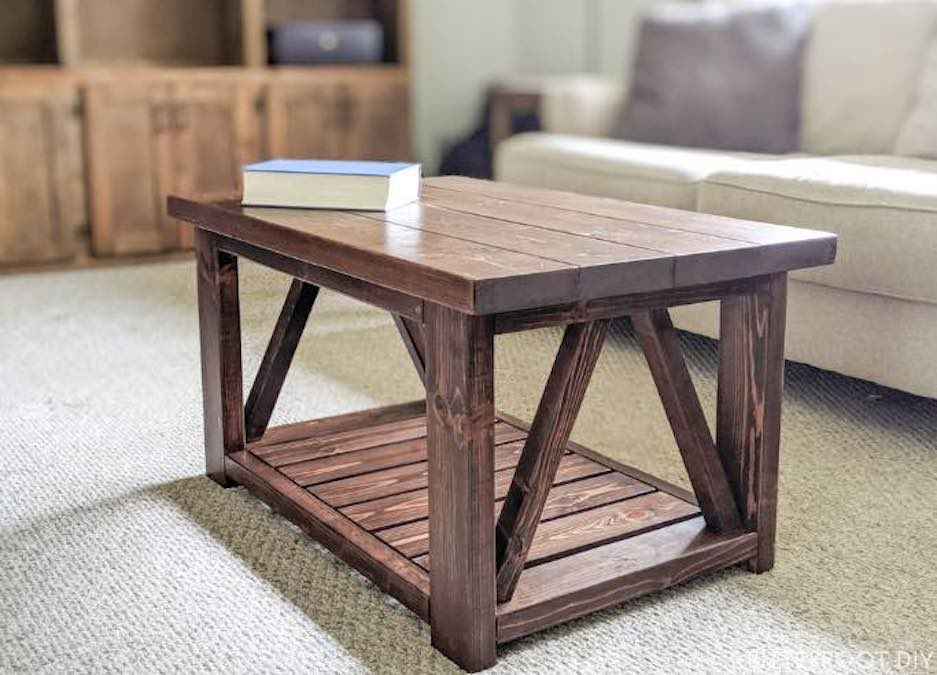 Free plans to build a Coffee Table With Truss Sides.