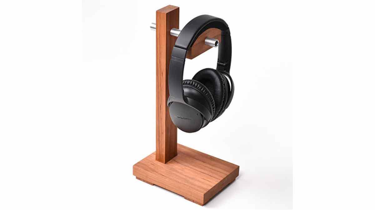 free woodworkin gplans, headphone stand, desktop rack for headphones