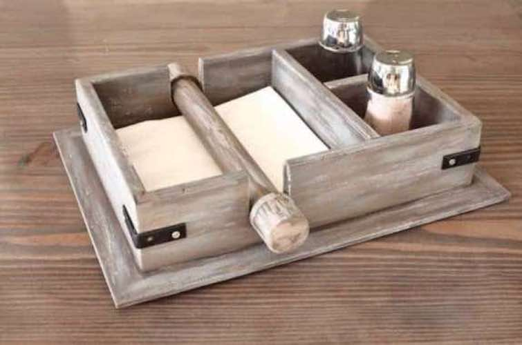 Use this Napkin Holder Free Plan to build a rustic Napkin Holder.