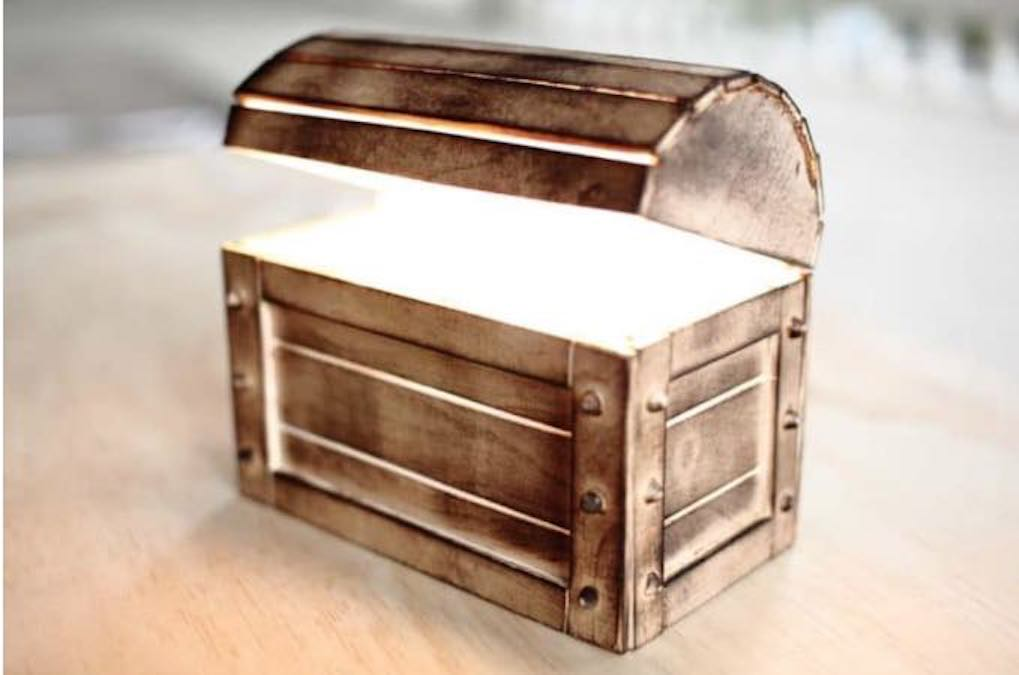 Build a Night Light Treasure Chest using free plans.