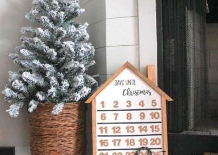 Build an Advent calendar using free woodworking plans.