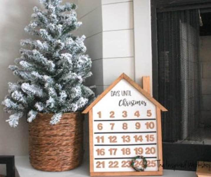 Build an Advent calendar using free woodworking plans.