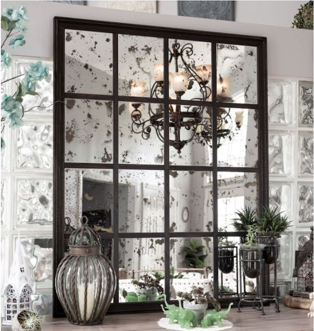 Free plans to build an Antiqued Panel Mirror.