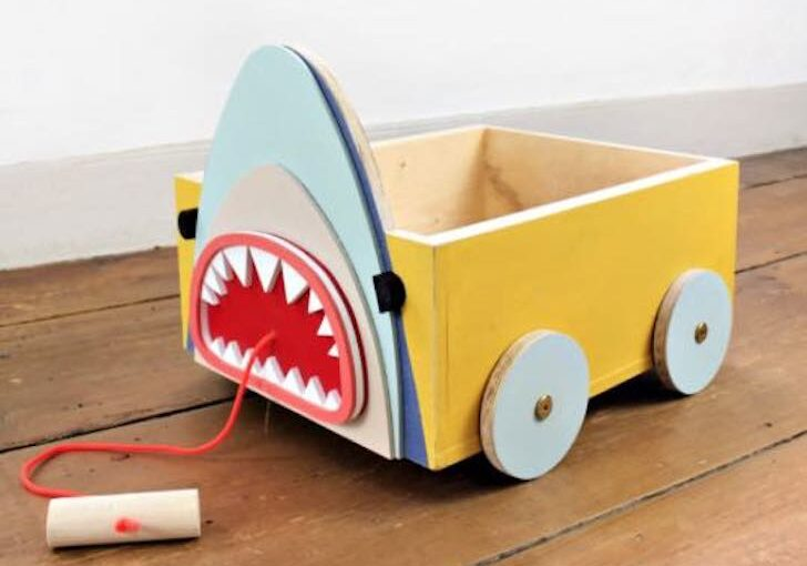 Build a fun Animal Book Cart using free plans.