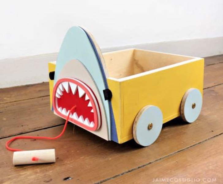 Build a fun Animal Book Cart using free plans.