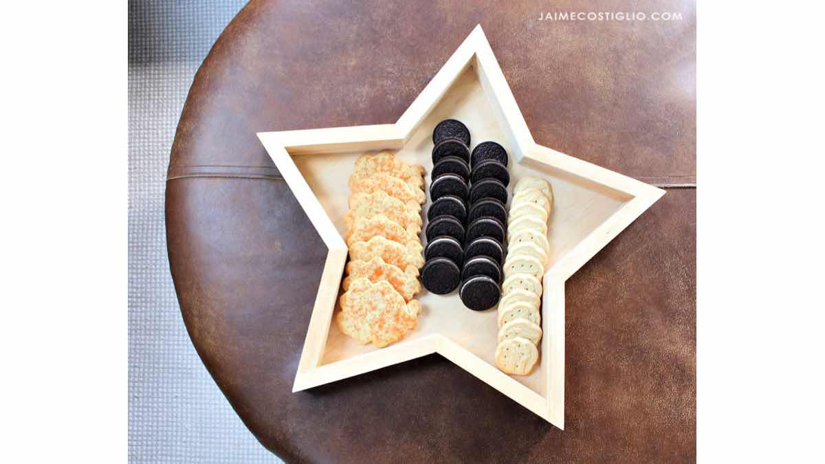 How to build a star shaped serving tray.