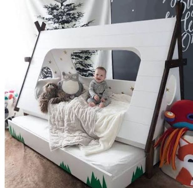 Free plans to build a Tee Pee Bed.