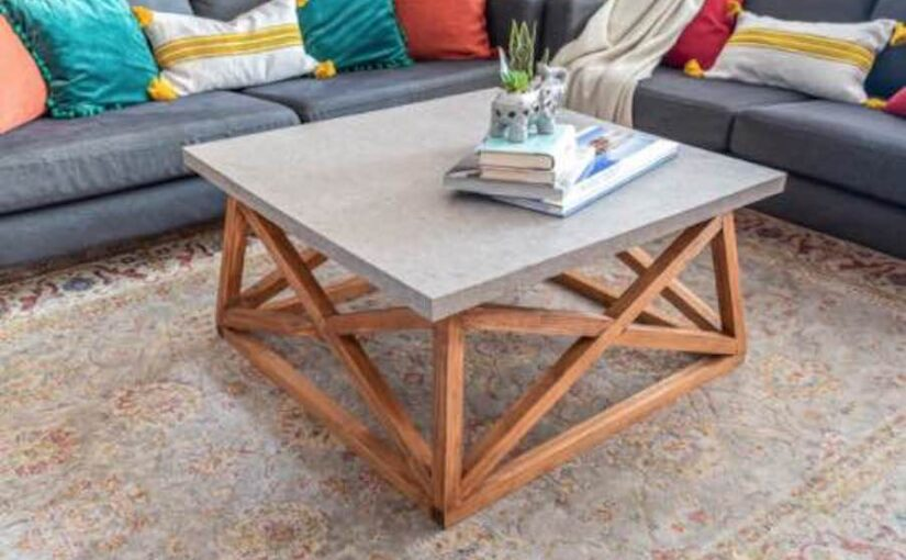Coffee Table with X Base