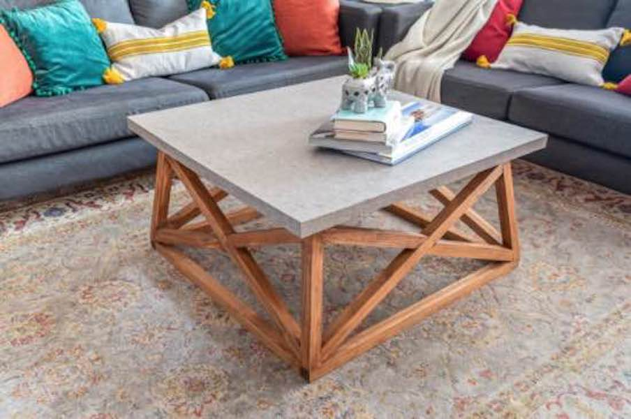 Free plans to build a Coffee Table with X Base.