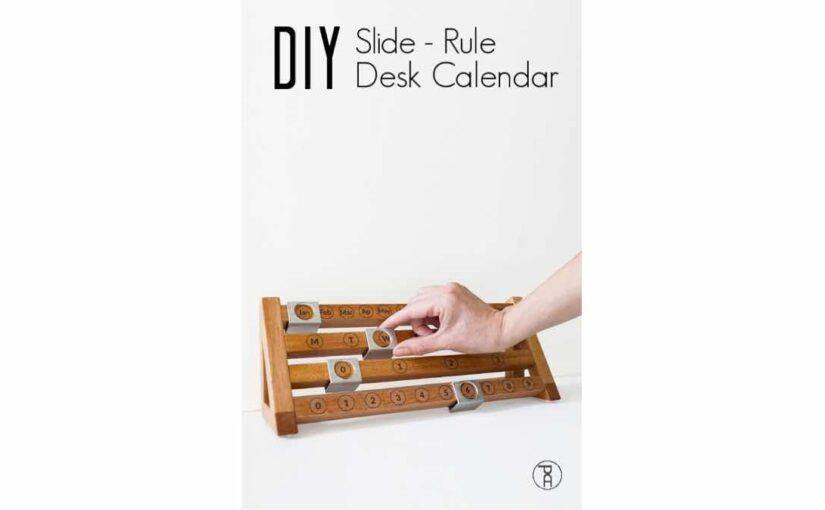 Slide Rule Desk Calendar