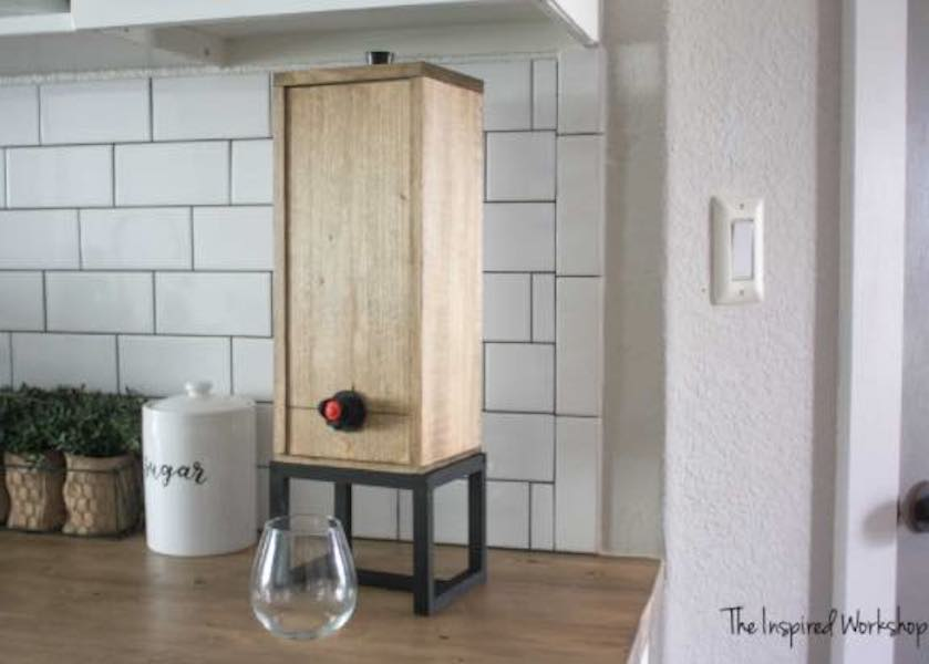 Free plans to build a Wine Dispenser.