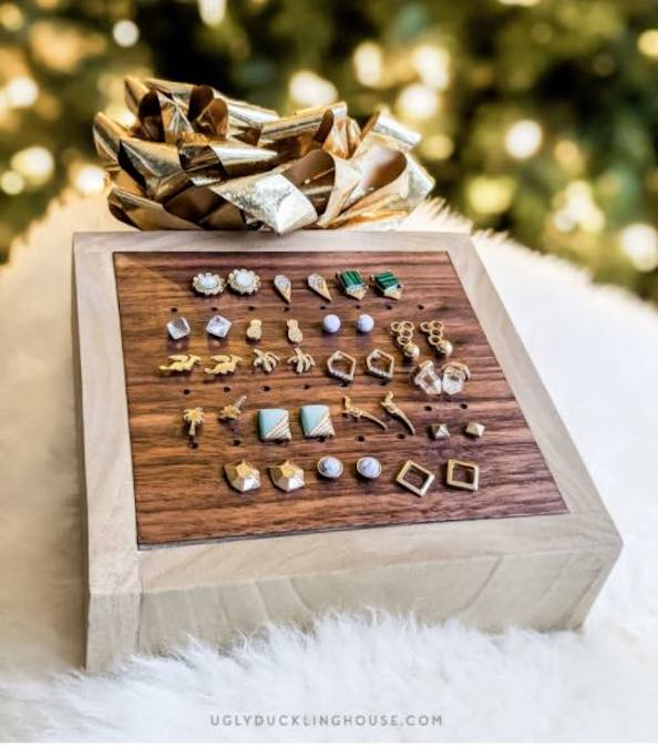 Build an Earring Holder From Scrap Wood using free plans.