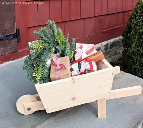 How to build a kid size wheelbarrow.