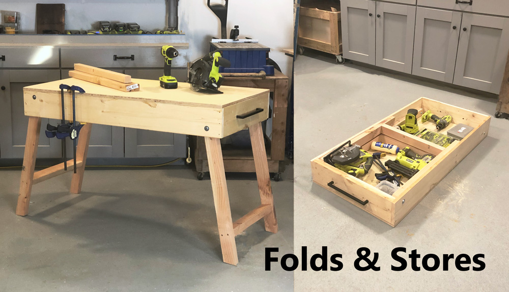 Free plans to build a portable workbench.