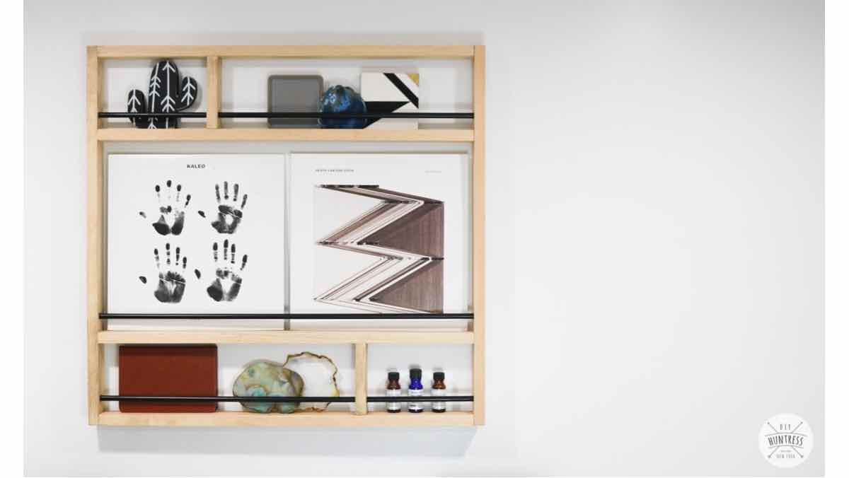 free diy plans, metal wood shelf, how to make