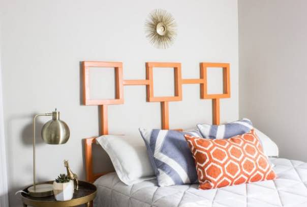 Learn how to build this Geometric Headboard.