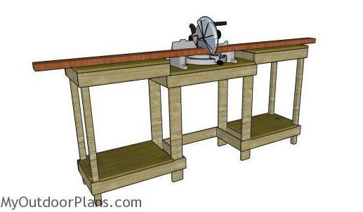 learn how to build a Miter Saw Station.