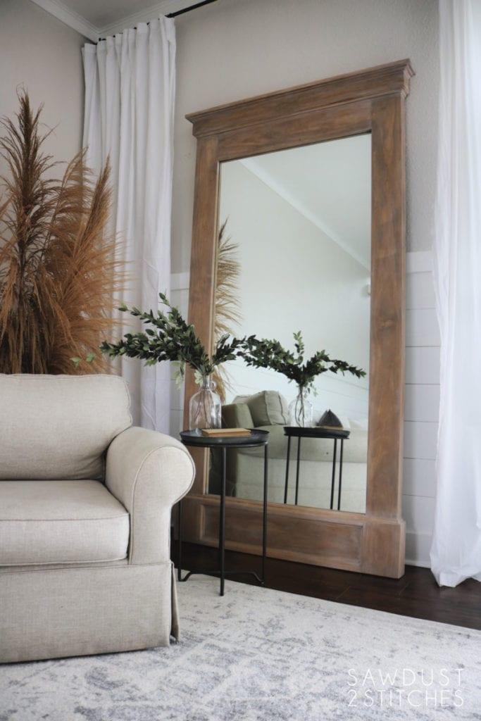 Floor Mirror DIY free project building plans.