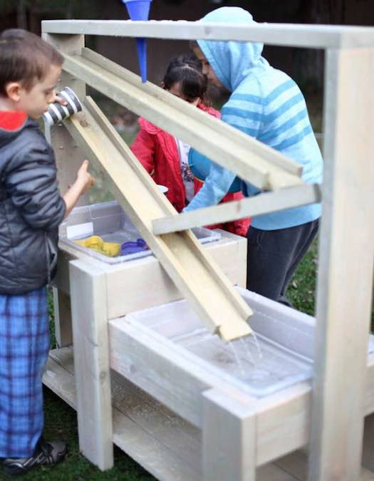 Learn how to build a Sensory Table with free plans.