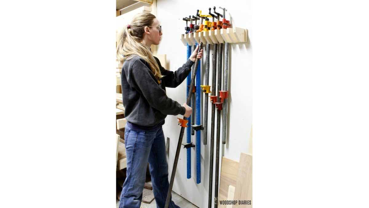 How to build a wall mounted pipe clamp rack.