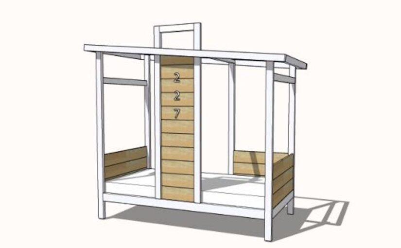 Bed Frame Tiny House Shape