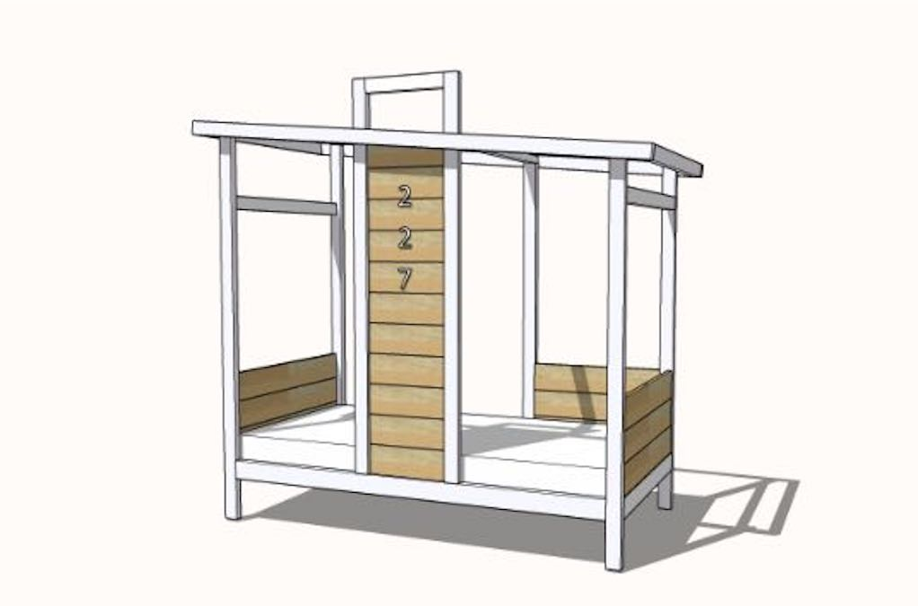 How to build a Bed Frame Tiny House Shape.