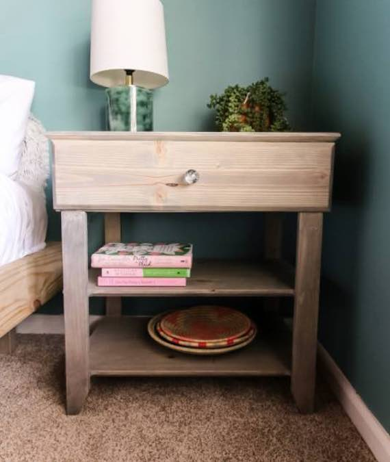 Build a nightstand with a drawer using these free plans.