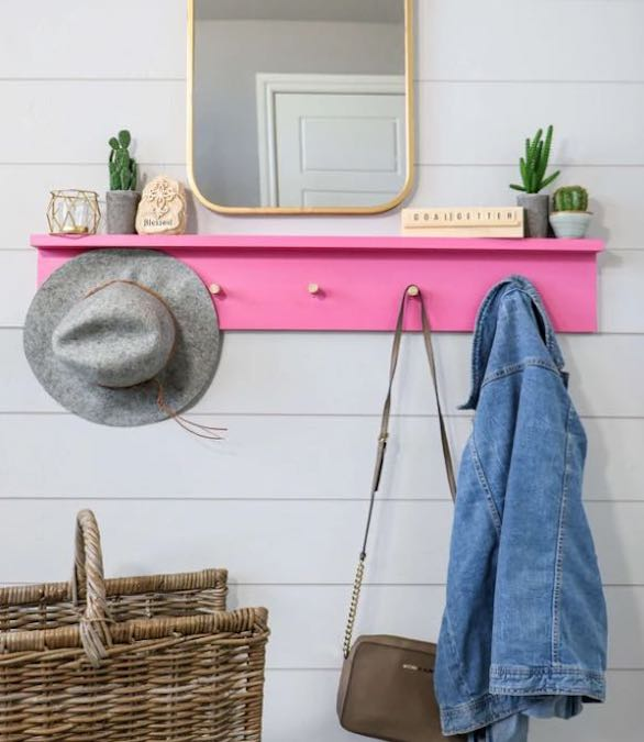 Free plans to build a Wall Mounted Coat Rack.