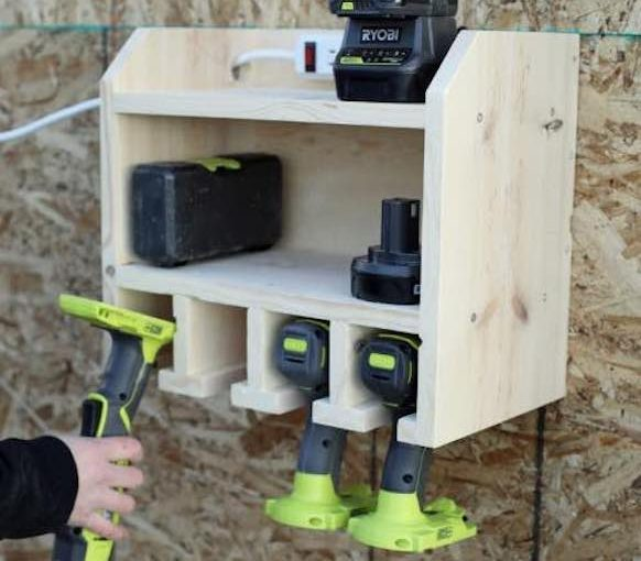 Drill Storage and Charging Station