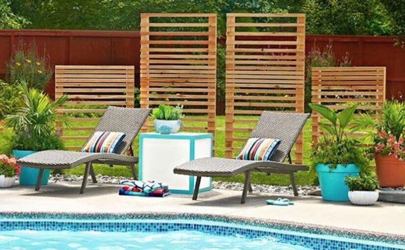 Cedar Slat Privacy Screens