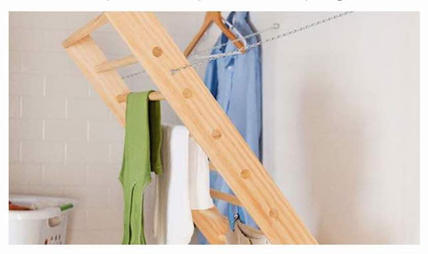 Free plans to build a Laundry Drying Rack.