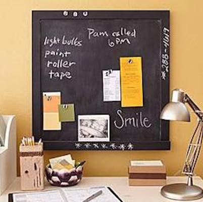 Free plans to build a Magnetic Chalkboard.