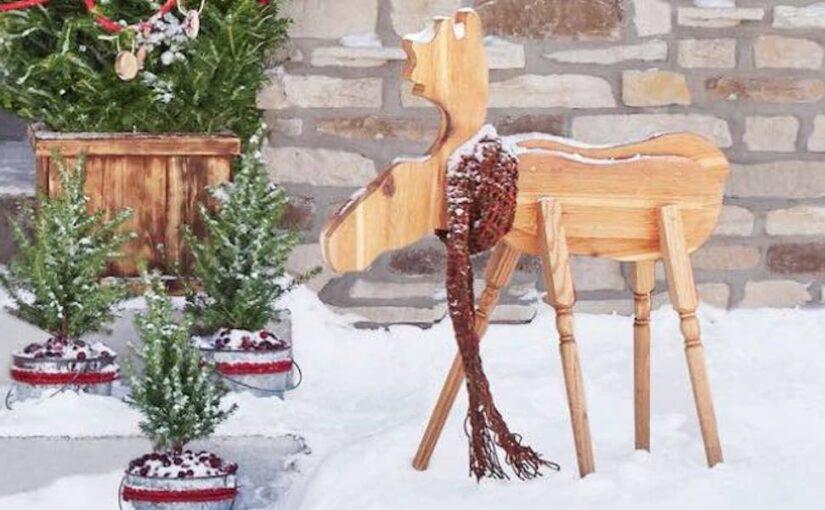 Moose Holiday Decoration