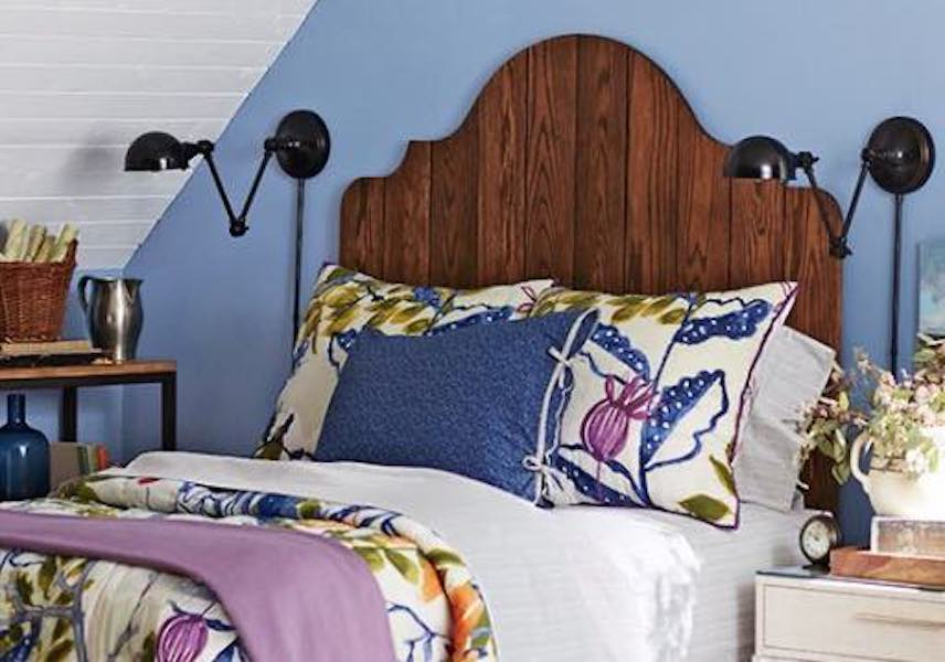 Free plans to build your own Plank Headboard.