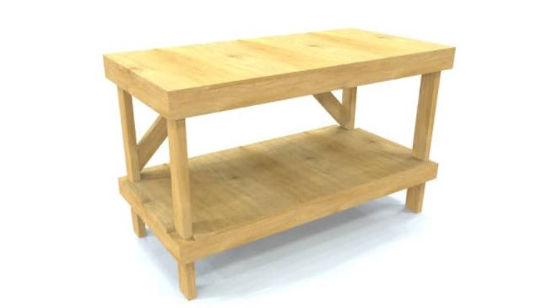 Free plans to build a Work Bench for your workshop.