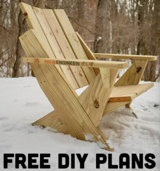 Build a Modern Adirondack Chair with free plans.