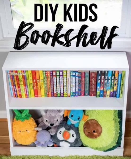 Free plans to build a kid sized bookshelf.