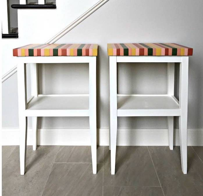 Build a sweet little side table with free plans.
