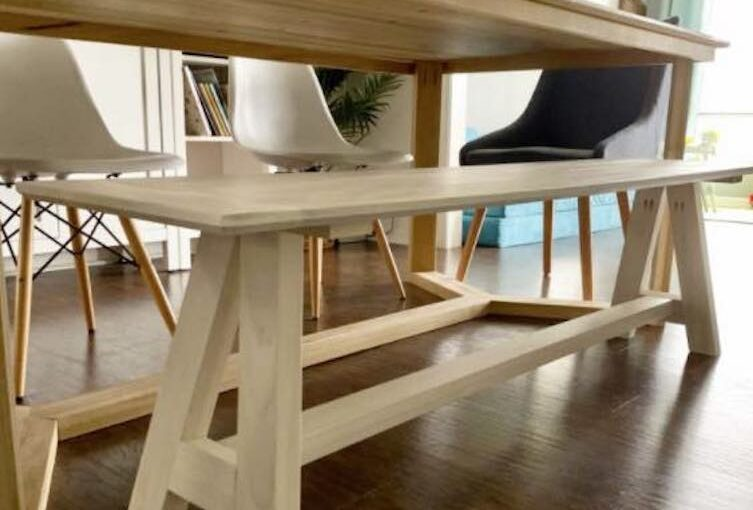 Modern Bench with Angled Base
