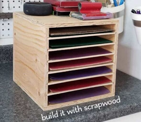 Sandpaper Storage Rack