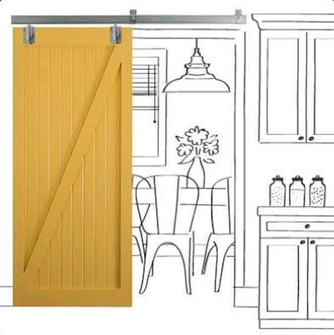 Build a trendy Barn Style Sliding Door.