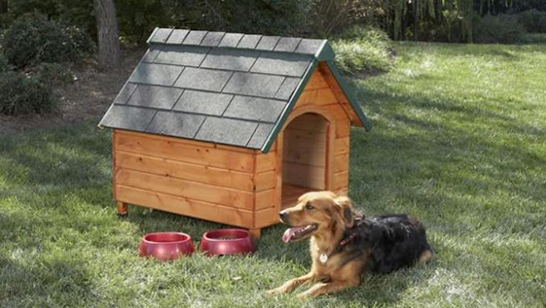 Free woodworking plans to build a Doghouse.